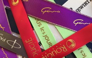 3D logo raised printed ribbons